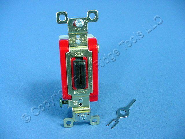 Tamper Proof Light Switch Key: Bryant Hubbell Black INDUSTRIAL KEYED Light Switch Tamper Resistant 20A  4901-L - Fruit Ridge Tools, LLC,Lighting