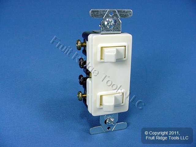 10 Cooper Almond Decorator Combination Switch Receptacle Outlet 15A 3274A