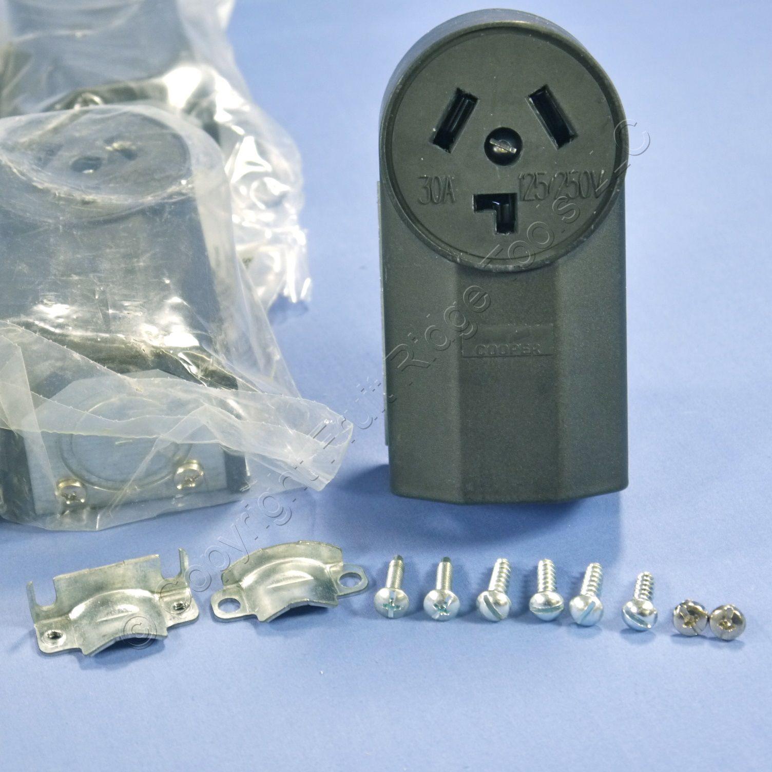 cooper commercial flush receptacle power outlet nema 15