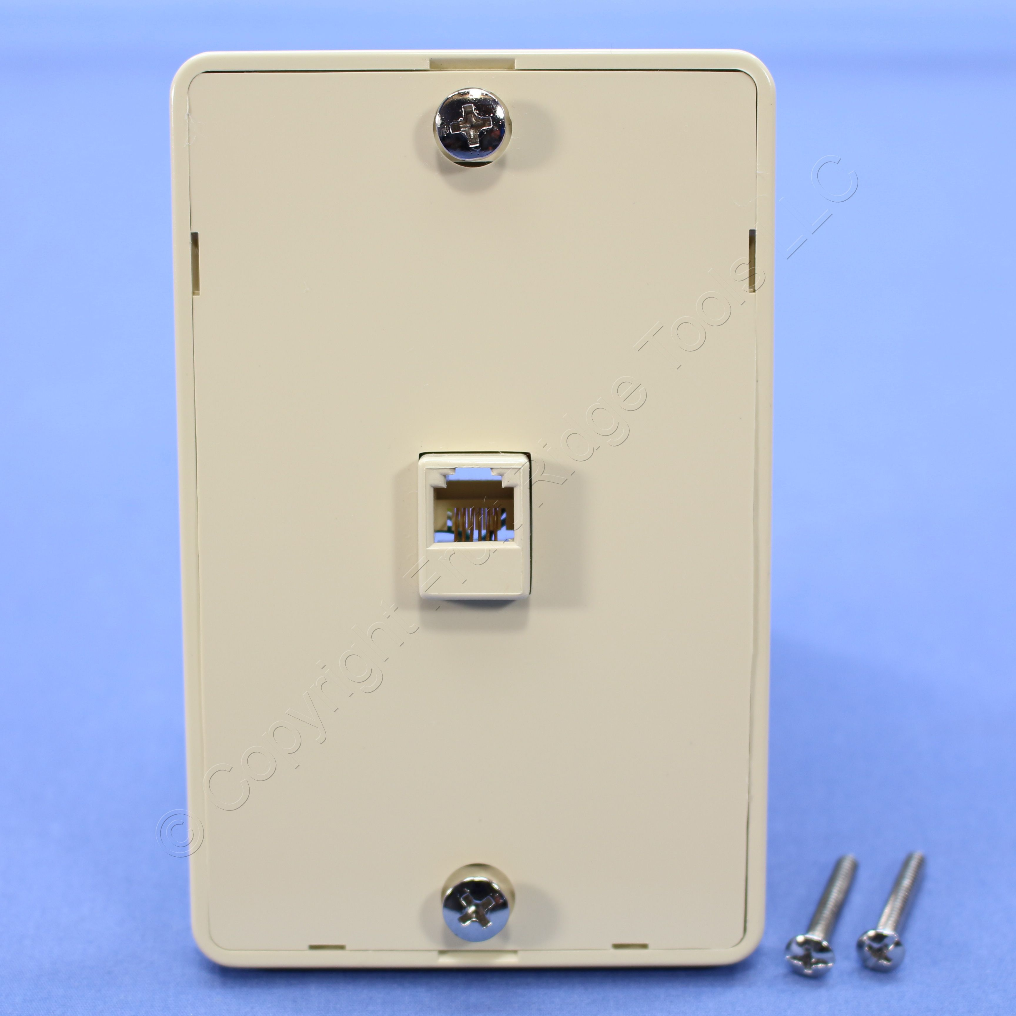 phone jack wiring 6 contacts cooper ivory    6    conductor telephone    jack    wall mounting  cooper ivory    6    conductor telephone    jack    wall mounting