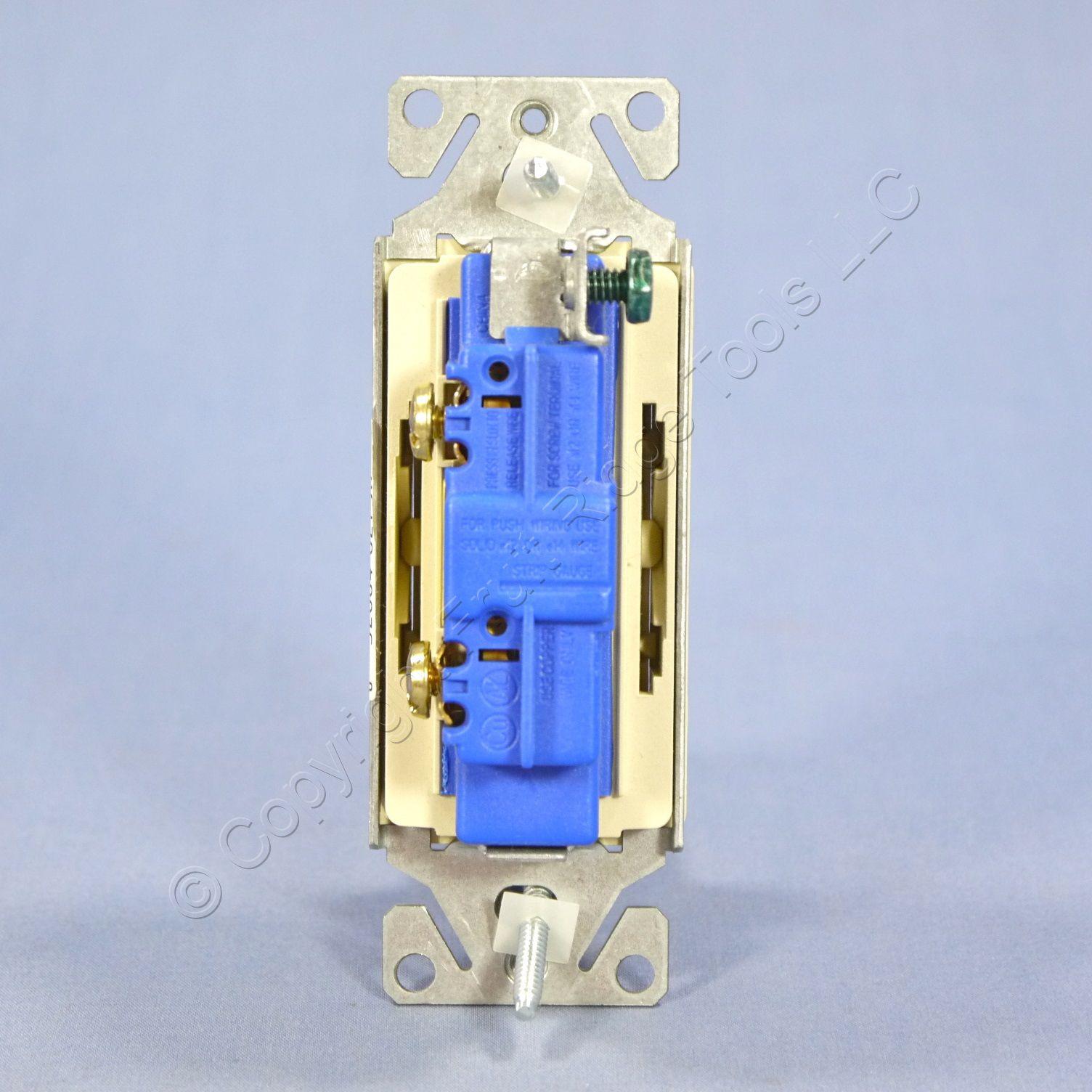 Csb120v Ivory Single Pole Toggle Switch Cooper Decorator Rocker Light 15a