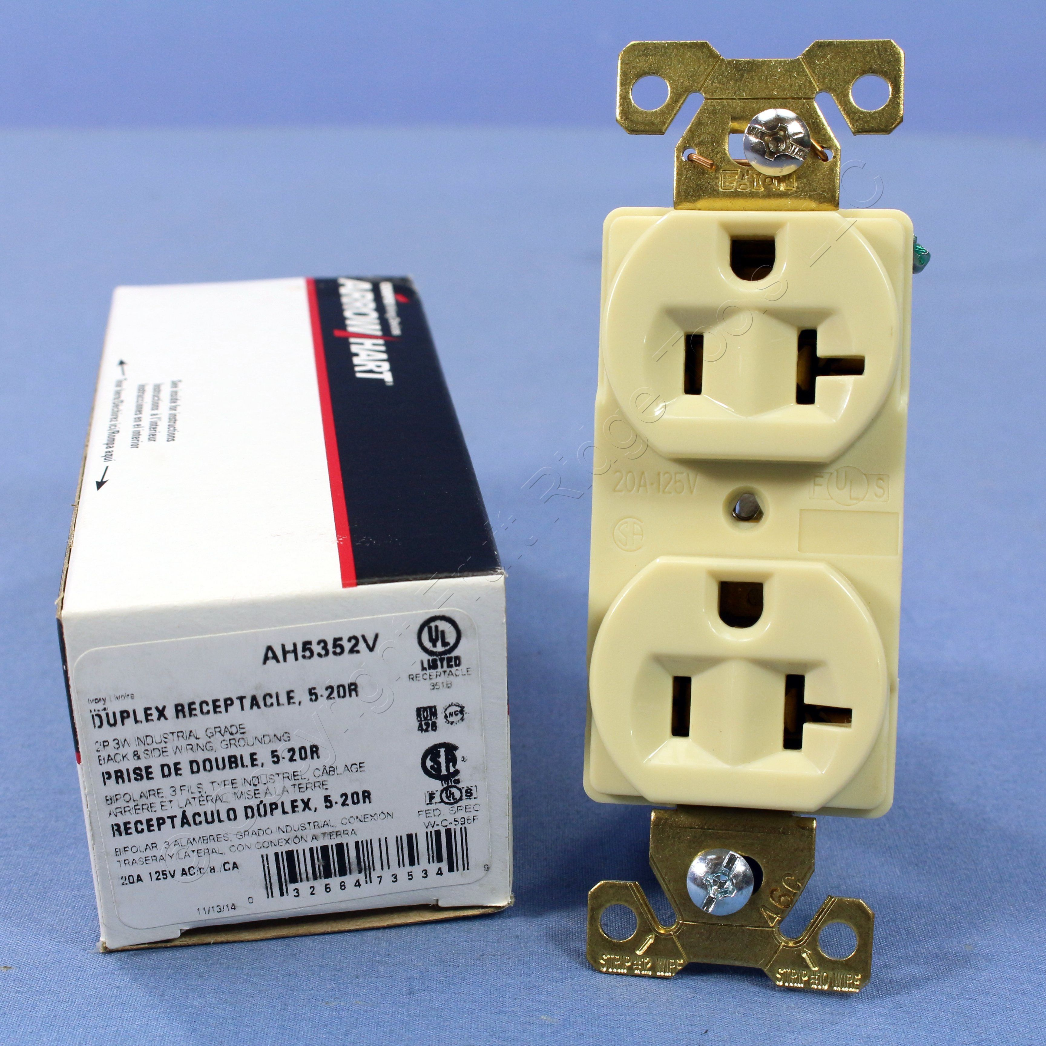Arrow Outlets Giftsforsubs Hart 5709n Power Receptacle 50a 250v Nema 650 2pole 3wire Ebay Cooper Ivor