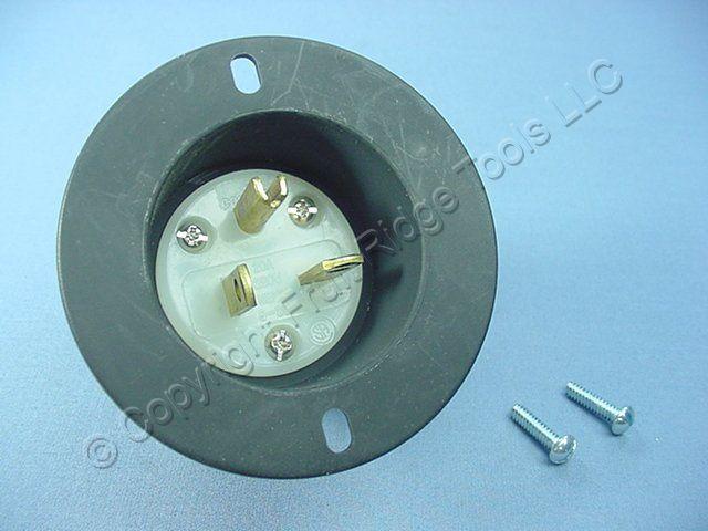 Cooper Arrow Hart Black INDUSTRIAL NEMA 6-20P 6-20 Flanged Inlet Plug 20A 250V AH5878C