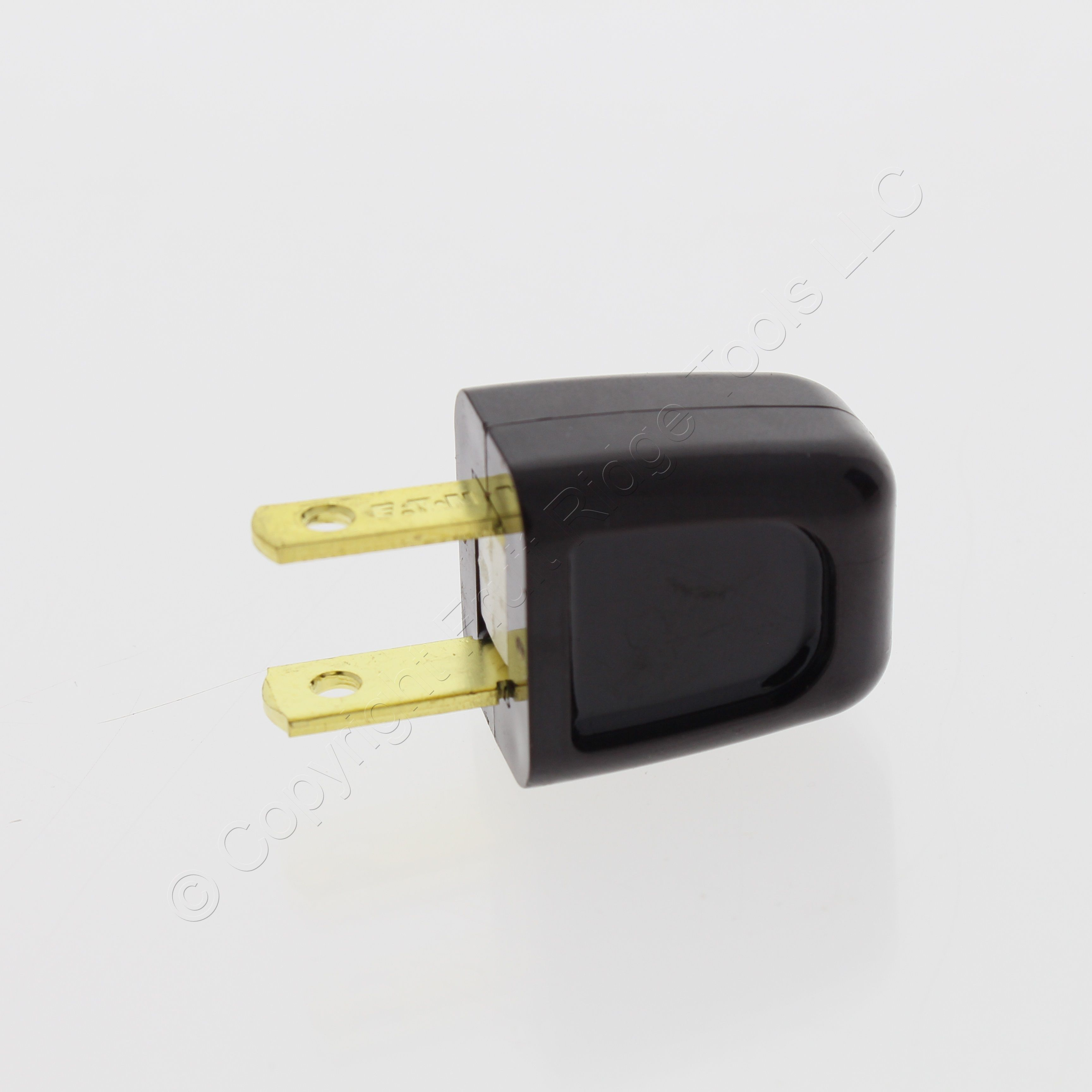 Cooper Brown Easy Install Plug 10A 125V Non-Polarized Non-Grounding 18-2 SPT-1 NEMA 1-15P BP2601B