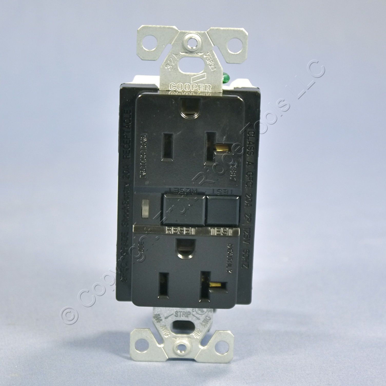 Cooper Wiring Commercial Specification Grade Black Duplex Receptacle GFCI Outlet 20A 125V EATON-20BK at Sears.com