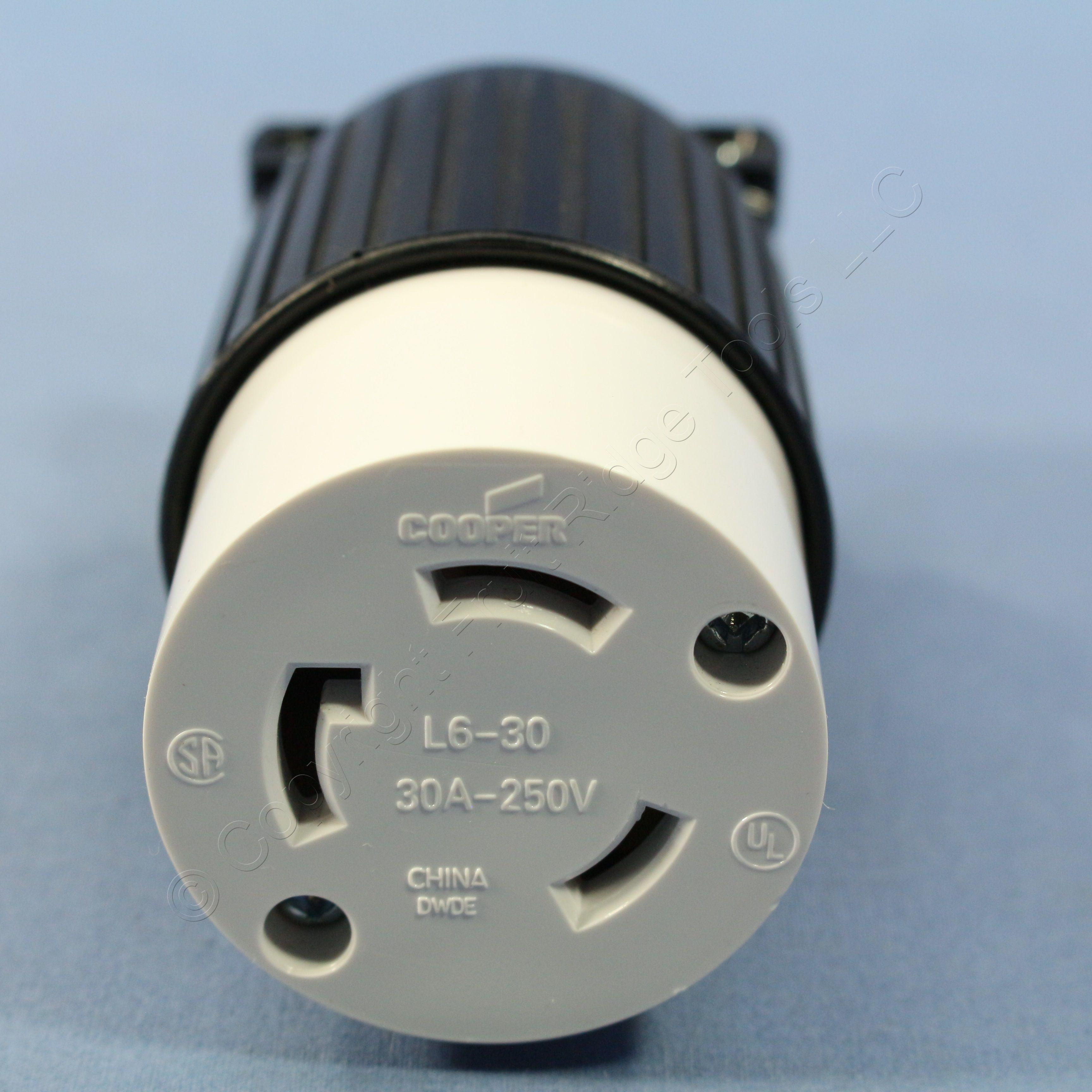 Cooper Twist Turn Locking Power Plug Connector NEMA L6-30R ...