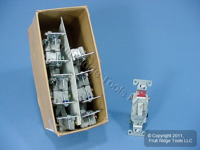 10 Cooper Wiring Gray COMMERCIAL Toggle Wall Light Switches 3-Way 20A CS320GY