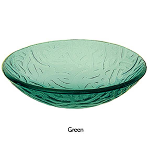 ... Artistic Green Art Glass Vessel Sink Bathroom Vanity Bowl 1070-GR