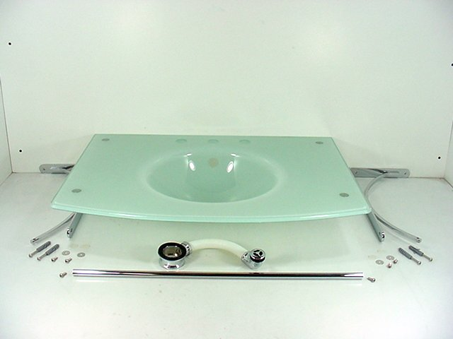 Glass Bowl Sink Vanity : Decolav White Glass Vanity Lavatory Bathroom Sink Bowl 2235 8CP WH ...