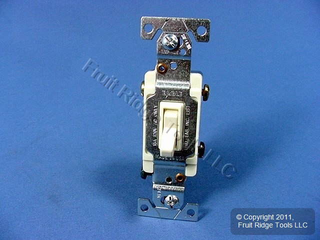 10 Eagle Electric Almond Toggle Wall Light Switches 3-WAY 15A 120V 1303-7A
