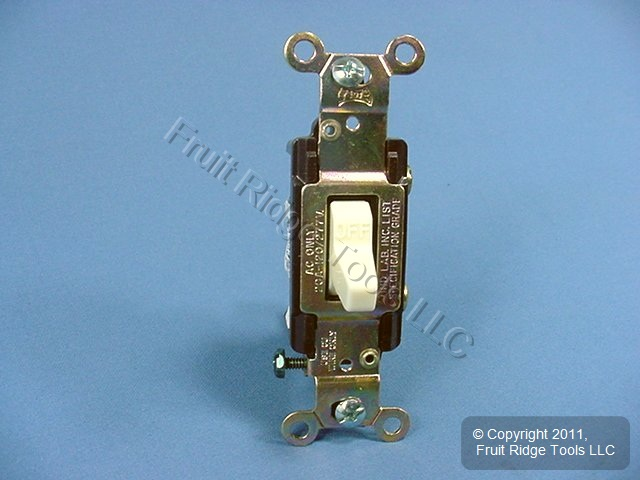 10 Eagle Electric Almond COMMERCIAL Toggle Switches 20A CS120A