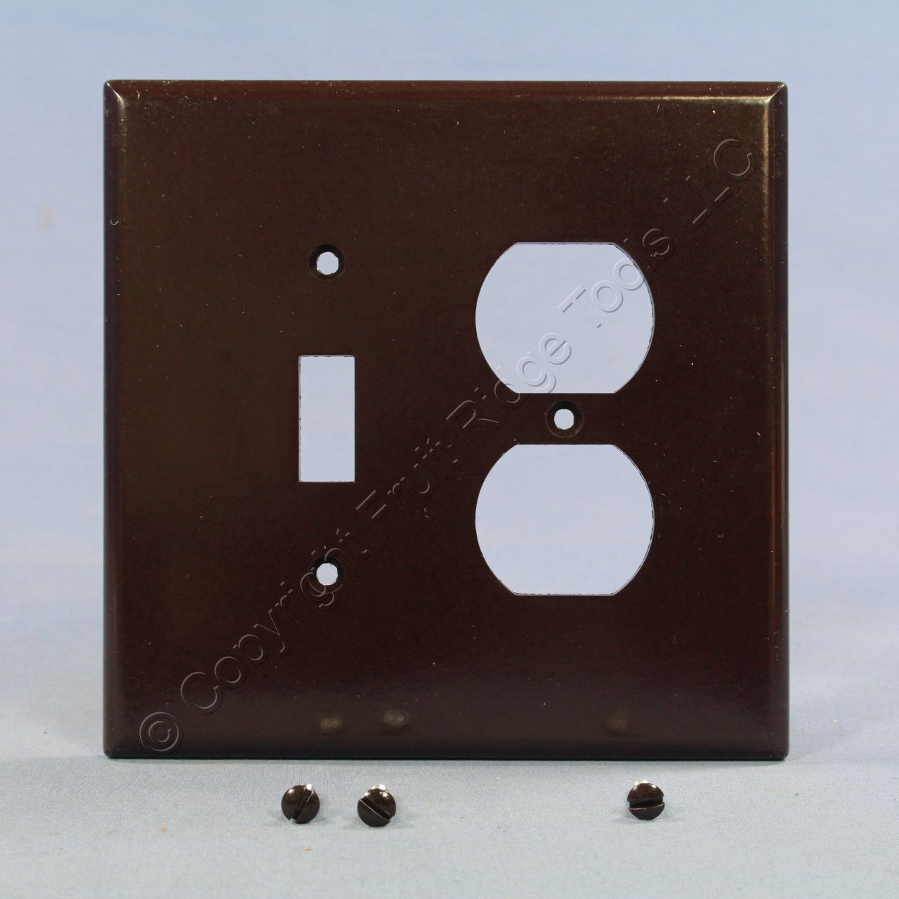Eagle Brown Oversize 2 Gang Switch Receptacle Wallplate