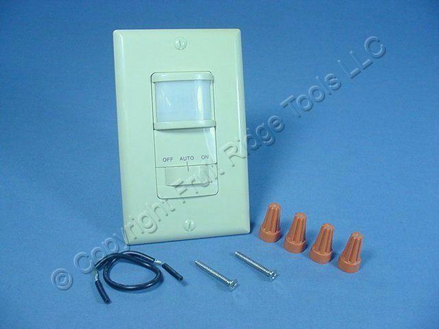 eagle electric ivory occupancy motion sensor 3 way wall light switch k6107v ebay. Black Bedroom Furniture Sets. Home Design Ideas