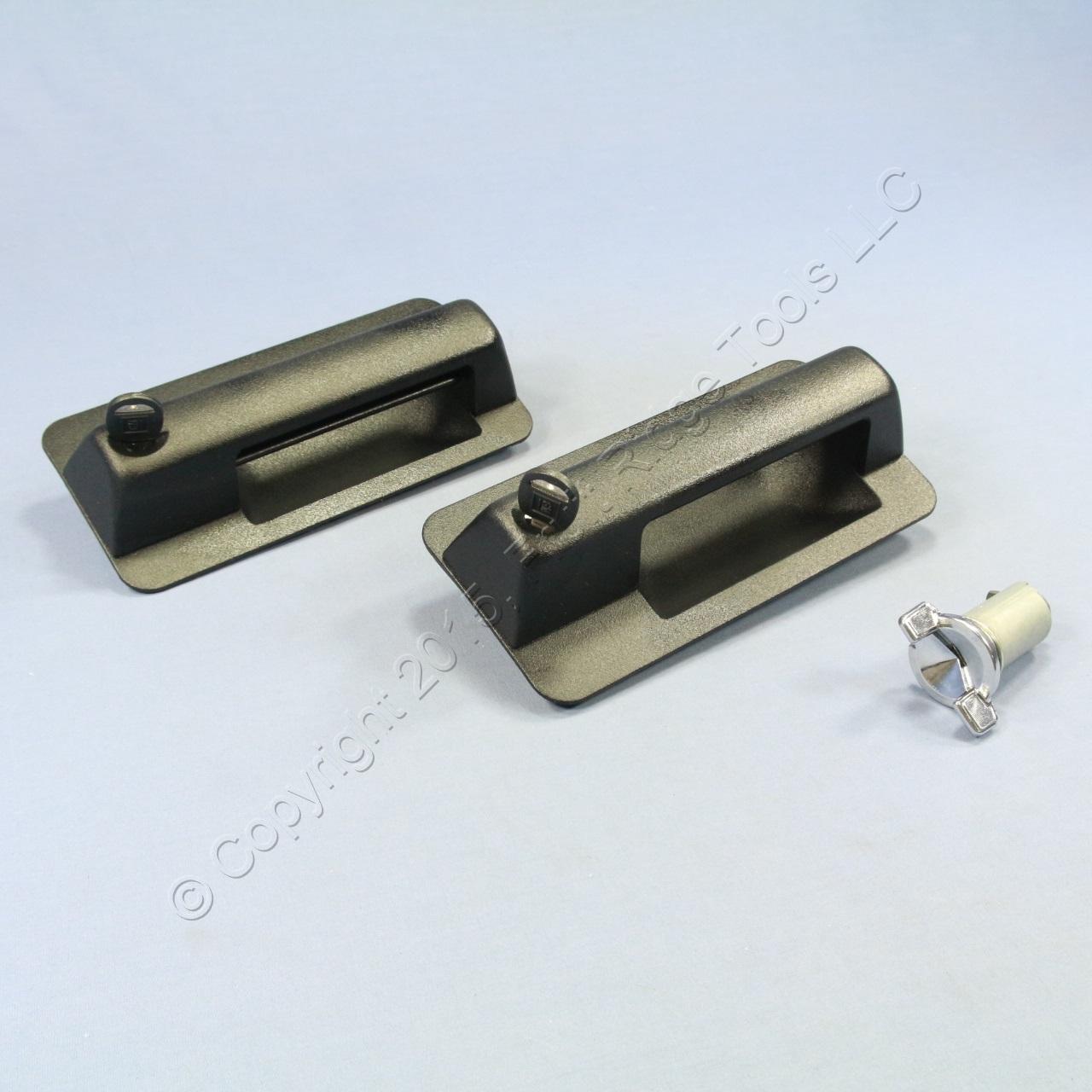 New Gm Exterior Black Metal Door Handle Set 15632419 15632420 W Keys Ebay