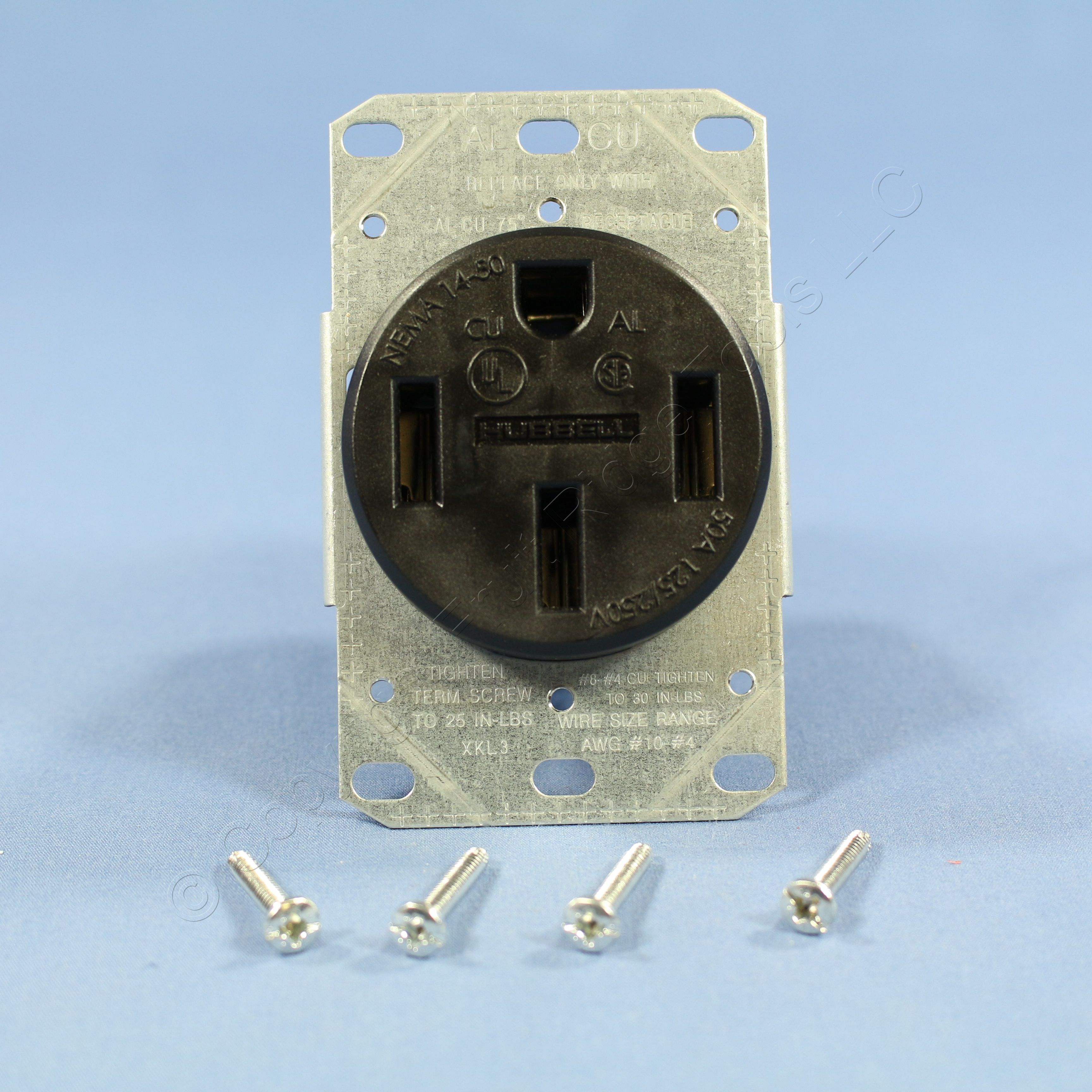 new hubbell range outlet receptacle stove oven 50a 125 250v nema 14 50r brr450f ebay
