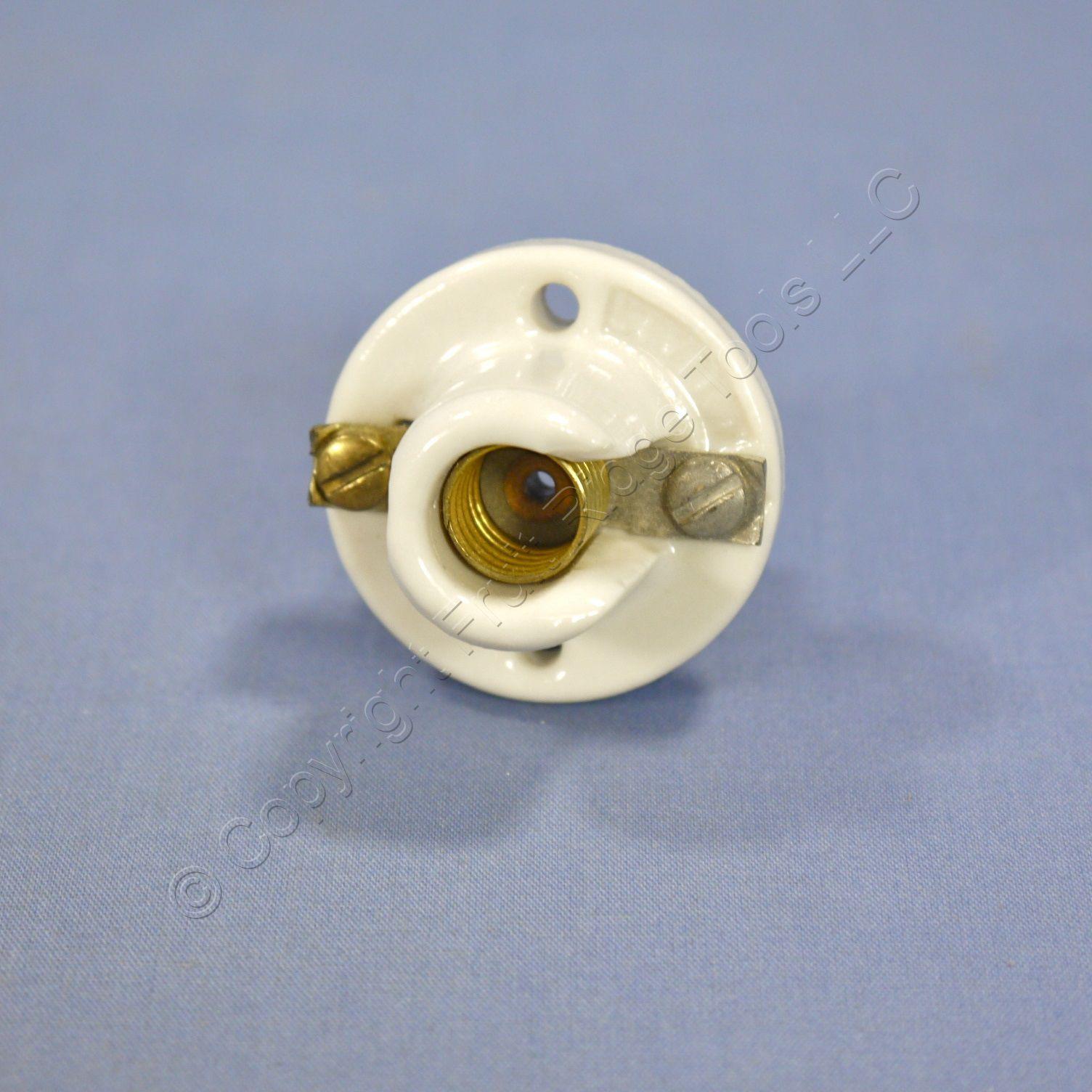 leviton round mini base porcelain lamp holder pony cleat light socket. Black Bedroom Furniture Sets. Home Design Ideas