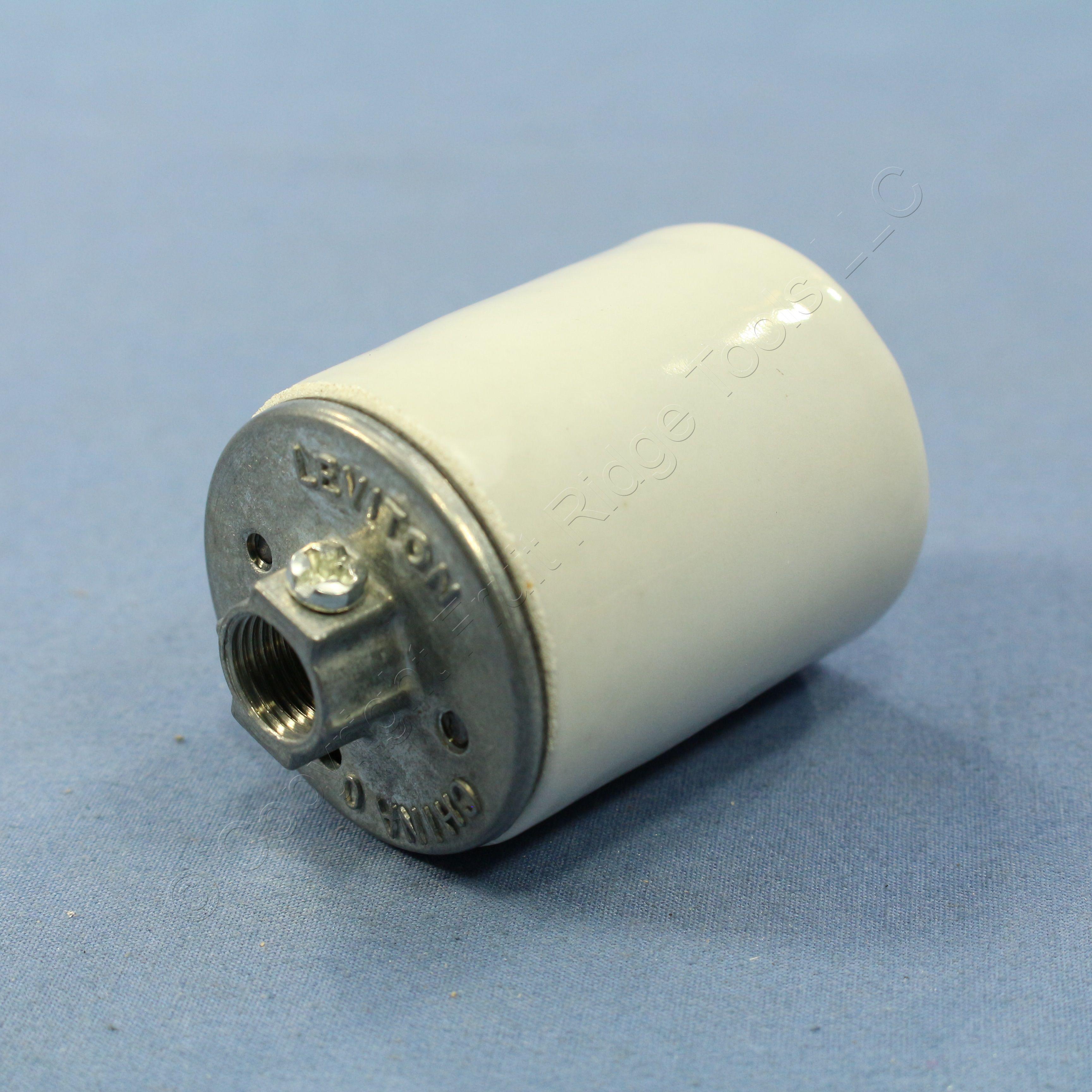 Ceramic Light Socket : Leviton medium base porcelain lamp holders light socket
