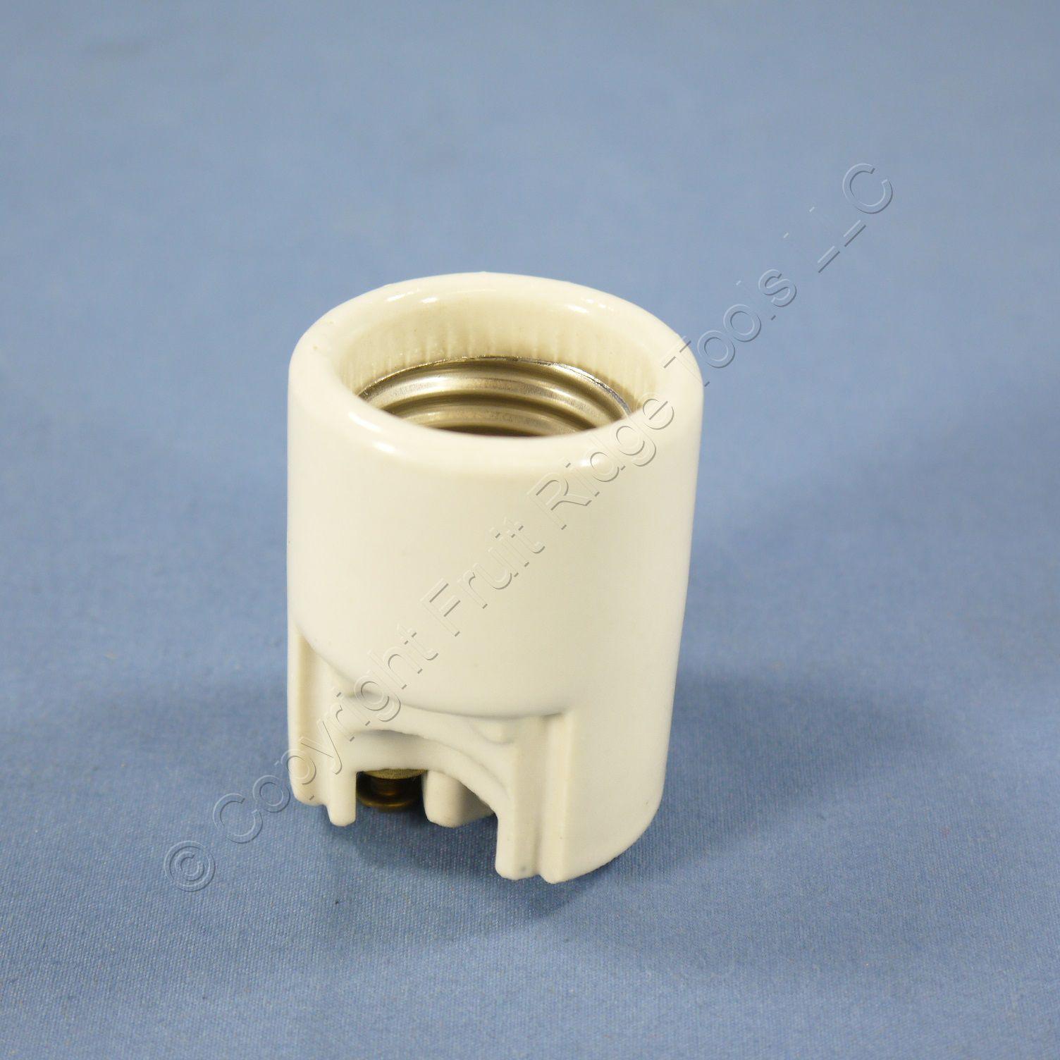 Ceramic Light Socket : Leviton porcelain side outlet lampholder light socket