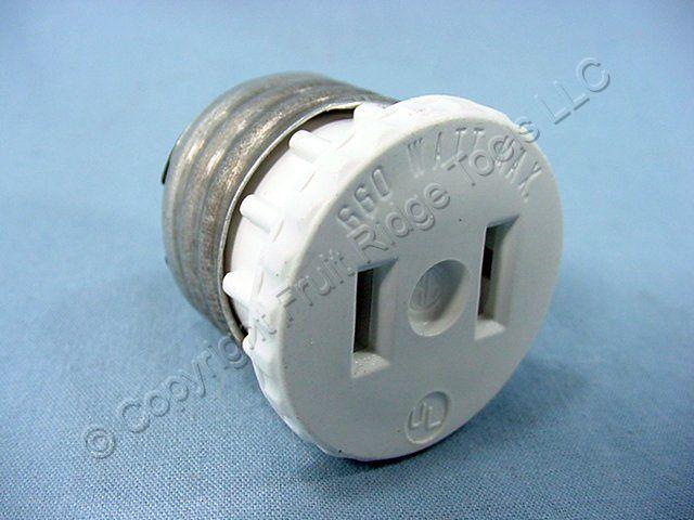 white light socket outlet plug lamp holder adapters 125 w ebay. Black Bedroom Furniture Sets. Home Design Ideas