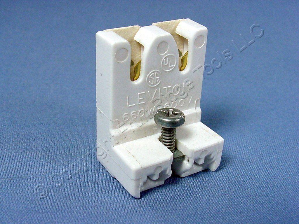 leviton fluorescent lampholder t 8 light socket g13 base. Black Bedroom Furniture Sets. Home Design Ideas