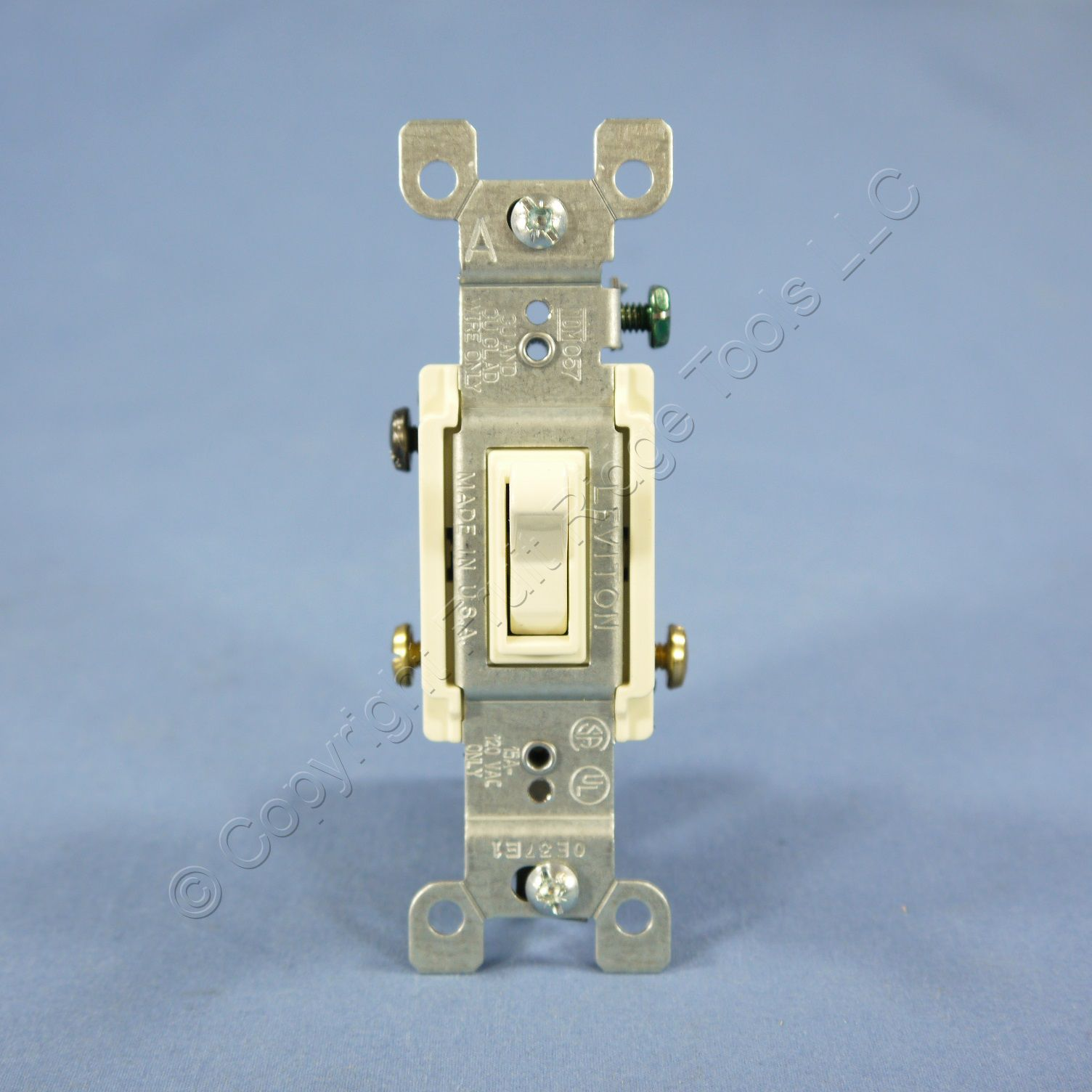 10 Leviton Almond 3 Way Toggle Wall Light Switches Quickwire 15a Triple Switch Wiring Diagram 1755 Rocker 2 Of 5 120v 1453 R2a