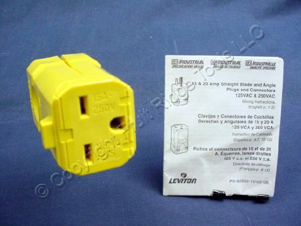 Leviton Yellow Python INDUSTRIAL Cord Connector 6-15 6-15R 15A 250V 15659-VY at Sears.com