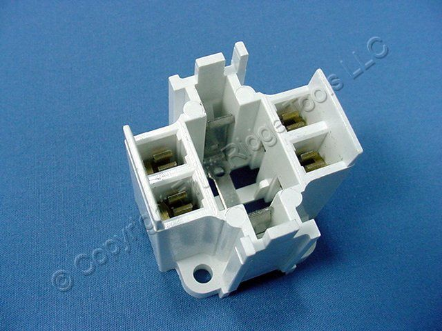 Leviton Compact Fluorescent Lamp Holder CFL Light Socket G24q-3 GX24q-4 Base Bottom Screw Mount 26W 32W 42W 4-Pin 26725-419