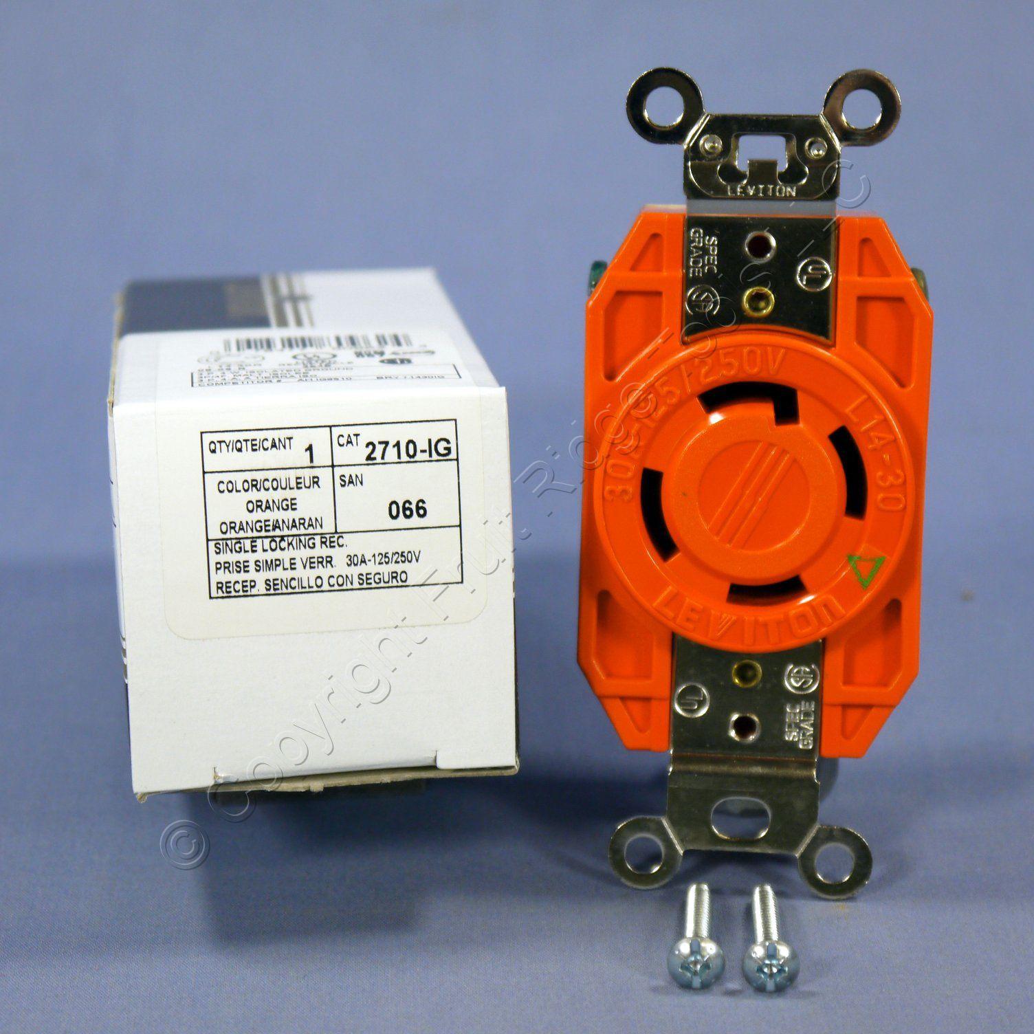 leviton l14 30 iso ground locking receptacle outlet 125. Black Bedroom Furniture Sets. Home Design Ideas
