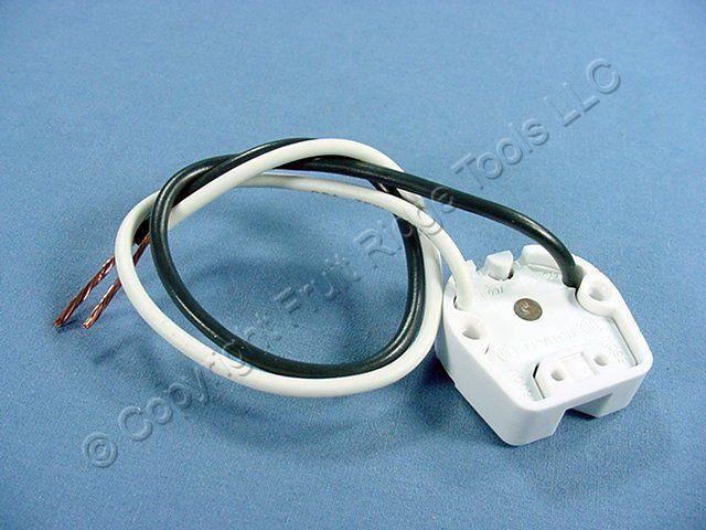 Leviton White Fluorescent Lamp Holder Light Socket Rapid Start T8 T12 395-W