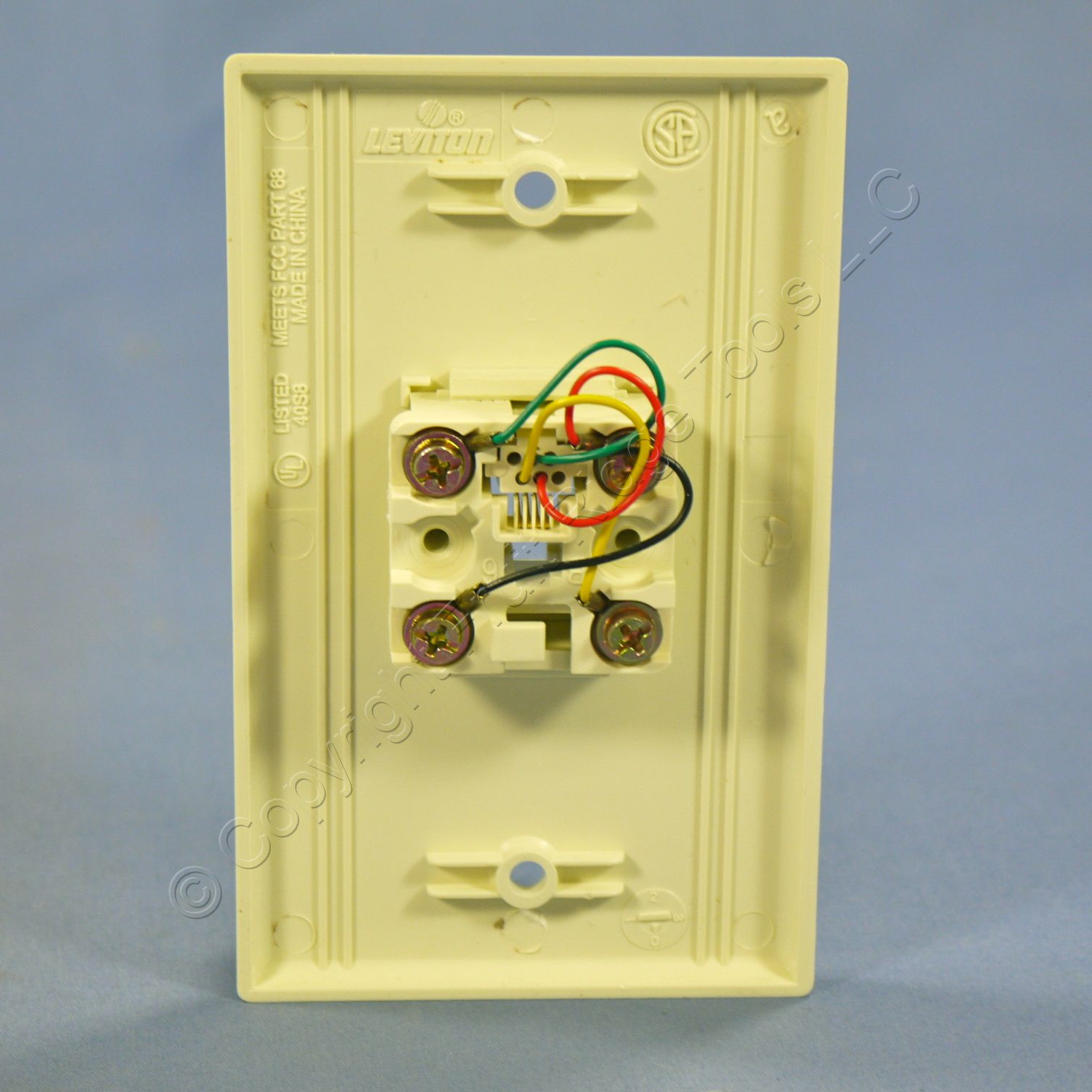 10 leviton almond phone wall plates 4 wire telephone 40249 a ebay