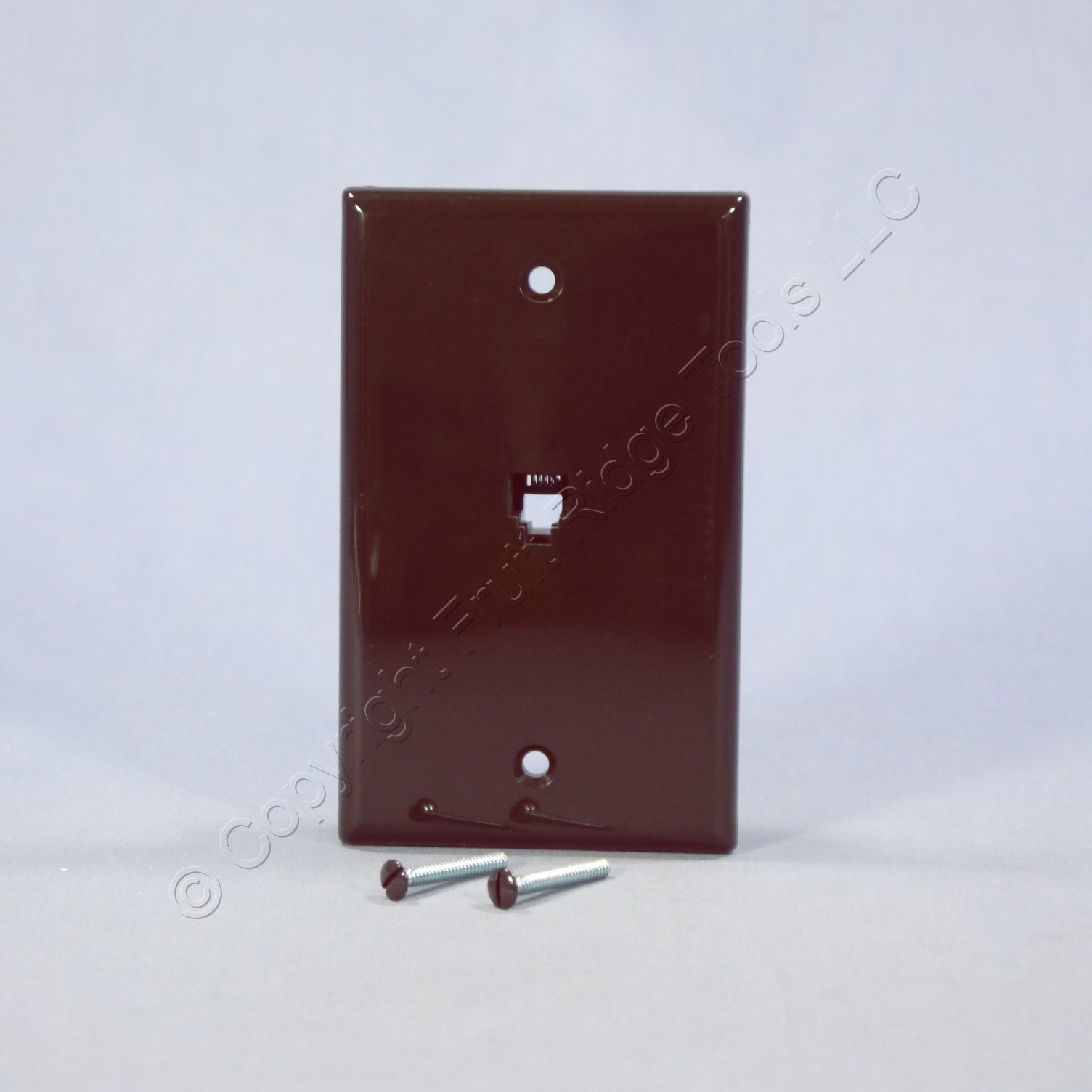 Leviton Brown Phone Jack Wall Plate 4-Wire Telephone Outlet 40249