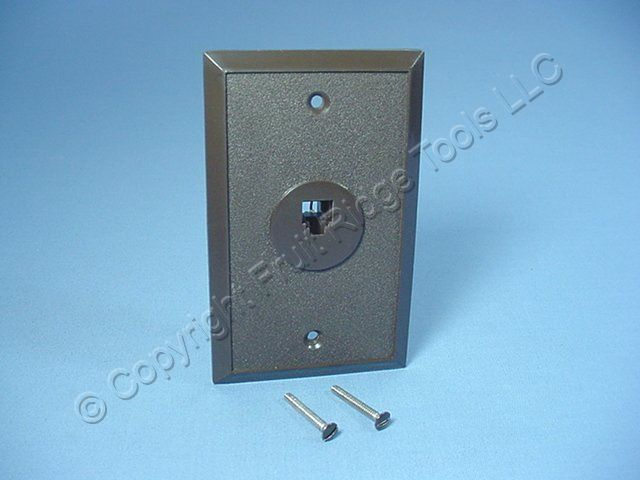leviton brown phone jack wall plate 4 wire telephone 40249. Black Bedroom Furniture Sets. Home Design Ideas
