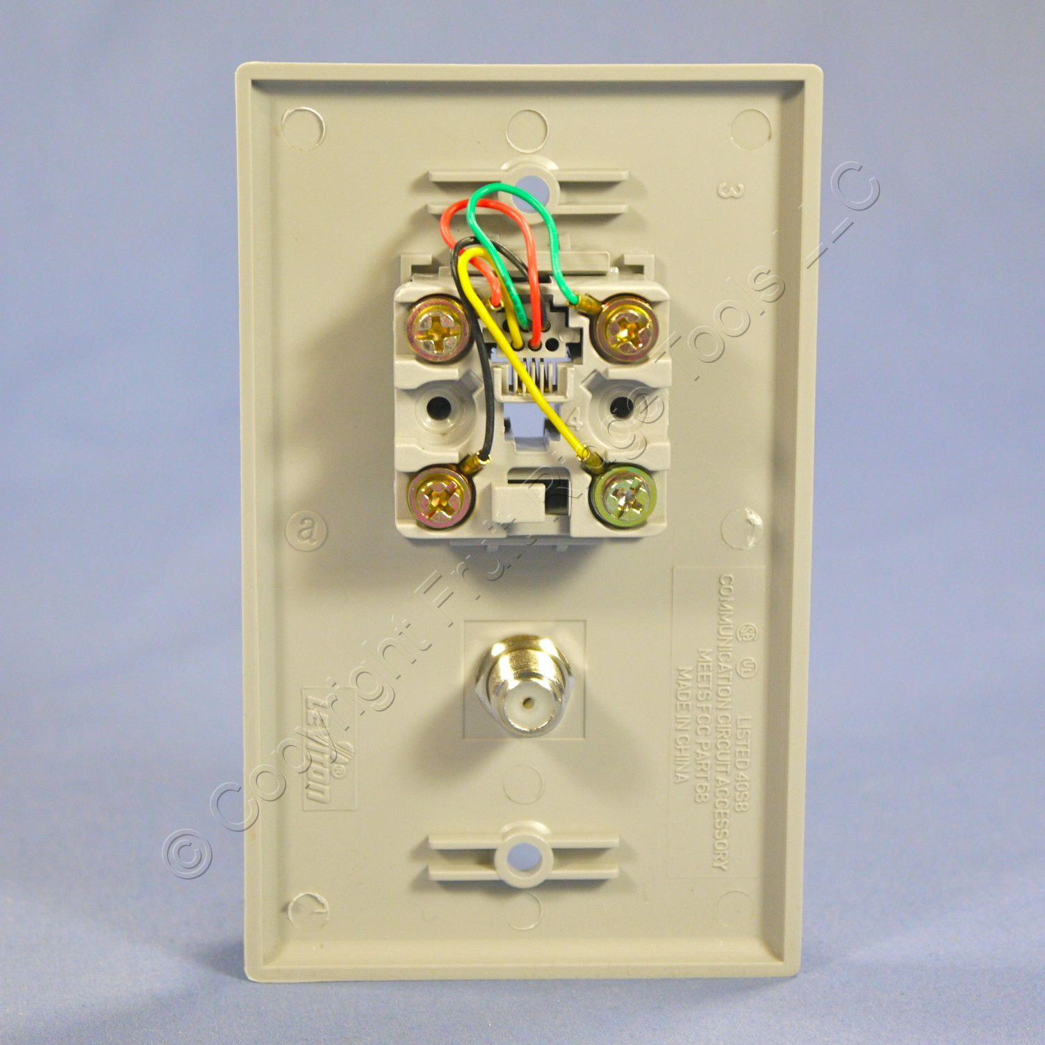 Phone Jack Wiring Grey Wires Diagrams Leviton Cat5 Diagram Gray Cable Catv Video Wall Plate Telephone Cat 5