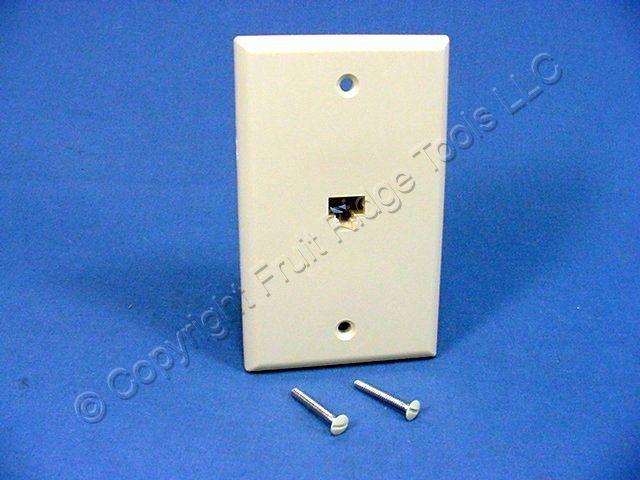 leviton ivory 8 wire phone jack wall plate 40280 i ebay. Black Bedroom Furniture Sets. Home Design Ideas