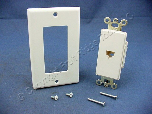 phone jack wiring grey wires leviton white decora 8-wire phone jack telephone modular ... modular phone jack wiring #7