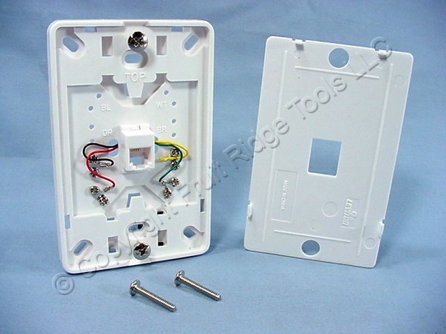leviton phone jack wiring new leviton white wall phone mounting plate telephone jack ... leviton cat5e jack wiring diagram