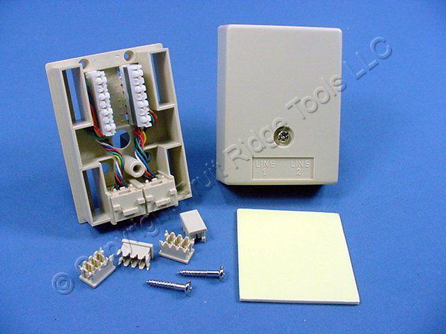 leviton ivory duplex surface mount modular phone jack 8. Black Bedroom Furniture Sets. Home Design Ideas