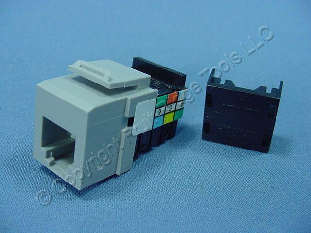 phone cable wiring diagram rj11 leviton phone jack wiring diagram rj11 leviton gray quickport 6-wire snap-in phone rj11 telephone ... #4