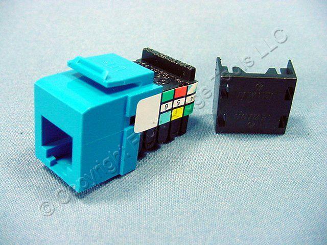 leviton blue quickport 6 wire phone jack rj11 telephone. Black Bedroom Furniture Sets. Home Design Ideas
