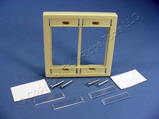 Leviton Ivory 2-Gang MOS Modular Insert Wallplate Frame 41290-DMI