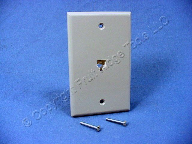 leviton gray telephone 4-wire phone jack wall plate 4625b ... indoor phone jack wiring