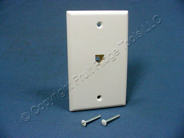 leviton white telephone 4 wire phone jack wall plate 4625b. Black Bedroom Furniture Sets. Home Design Ideas