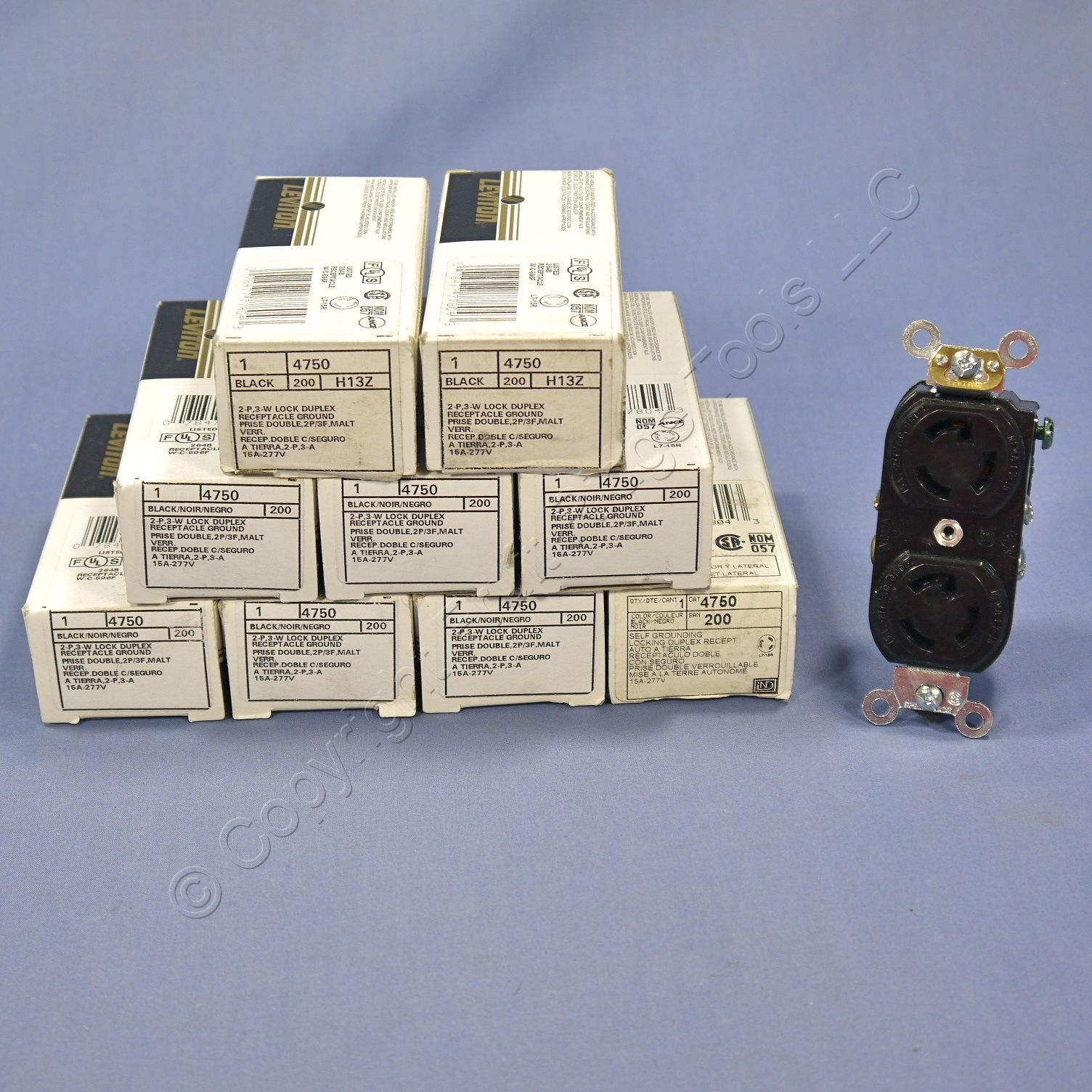 10 leviton l7 15 locking receptacles nema l7 15r duplex outlet 15a 277v 4750 ebay