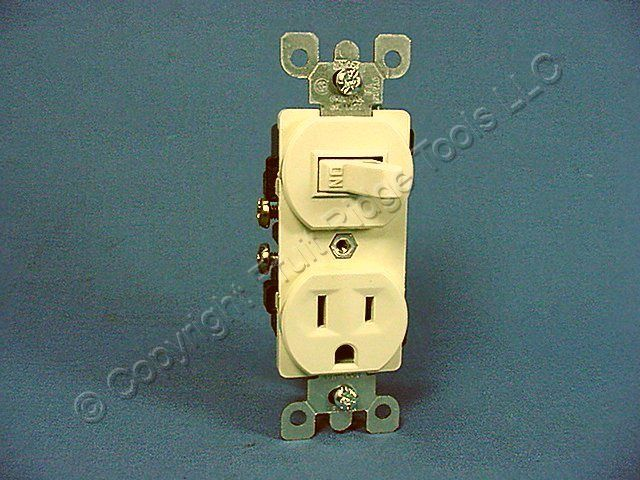 leviton almond wall light switch outlet receptacle ebay. Black Bedroom Furniture Sets. Home Design Ideas