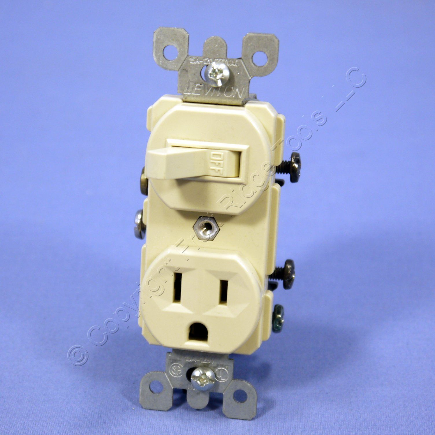 Wall Plug Light Switch : Leviton Ivory Wall Toggle Light Switch & Outlet Receptacle 15A 5225-I-042 Bulk eBay