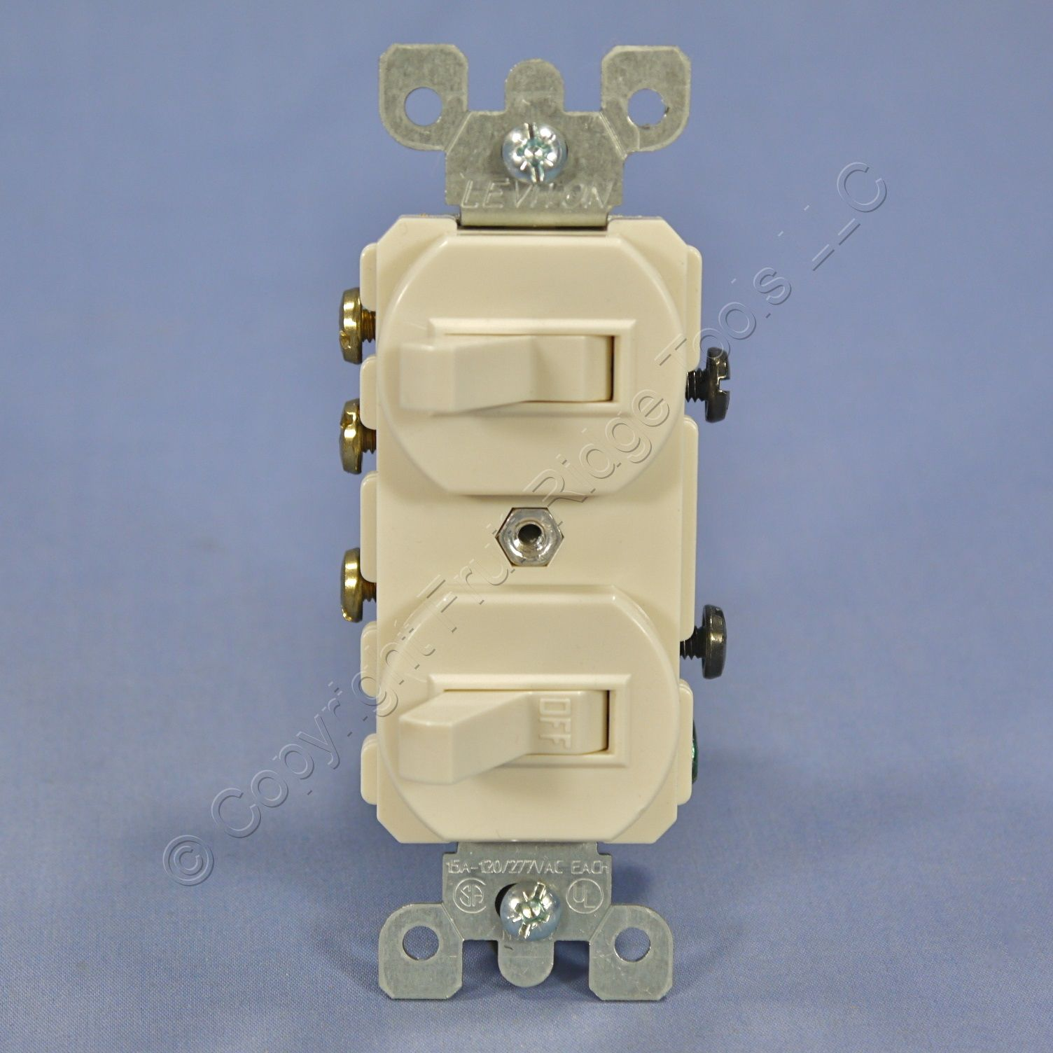 leviton lt almond double toggle light switch duplex single pole leviton lt almond double toggle light switch duplex single pole 3 way 5241 t 3 3 of 5