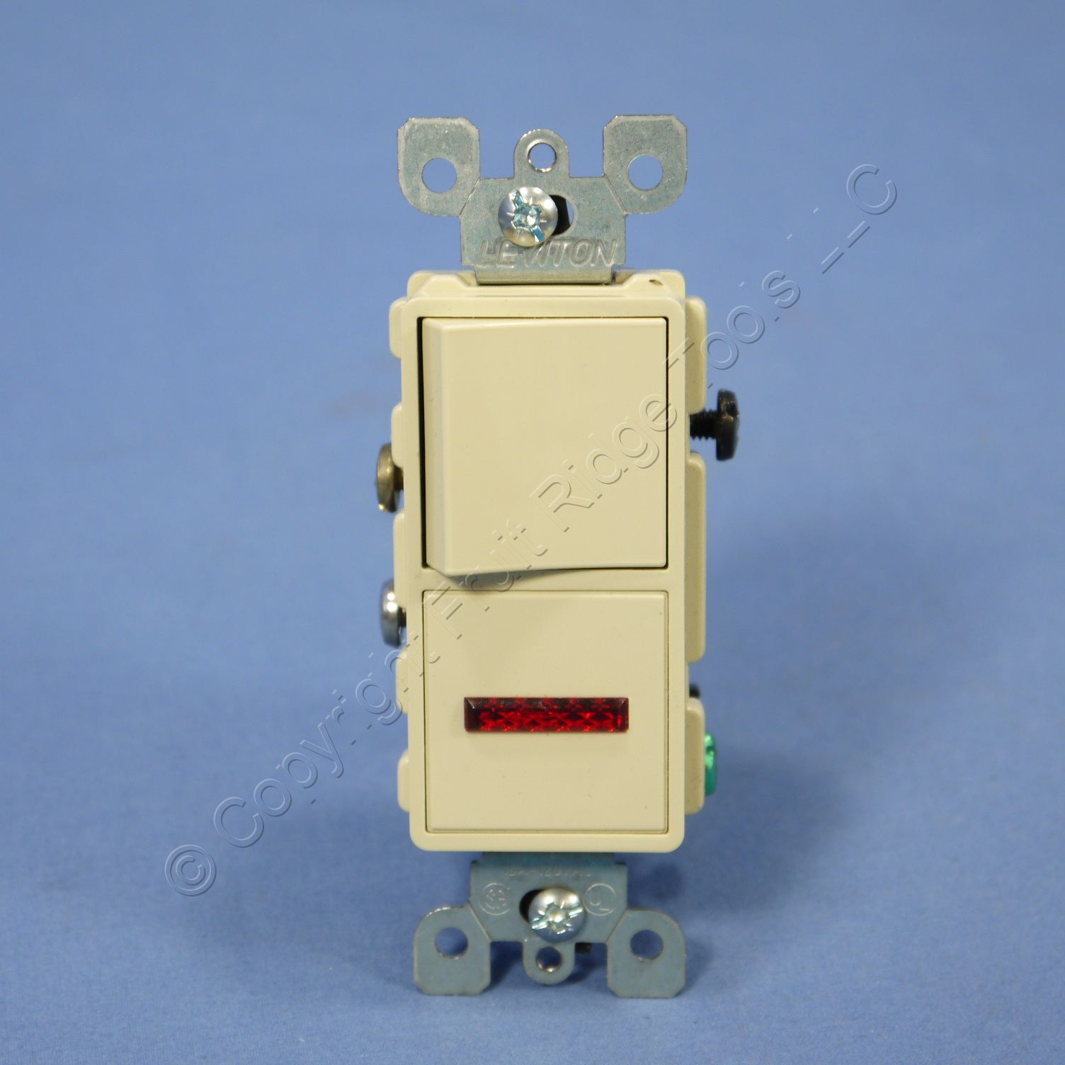Leviton ivory decora toggle switch with pilot light 15a for Decora light switches