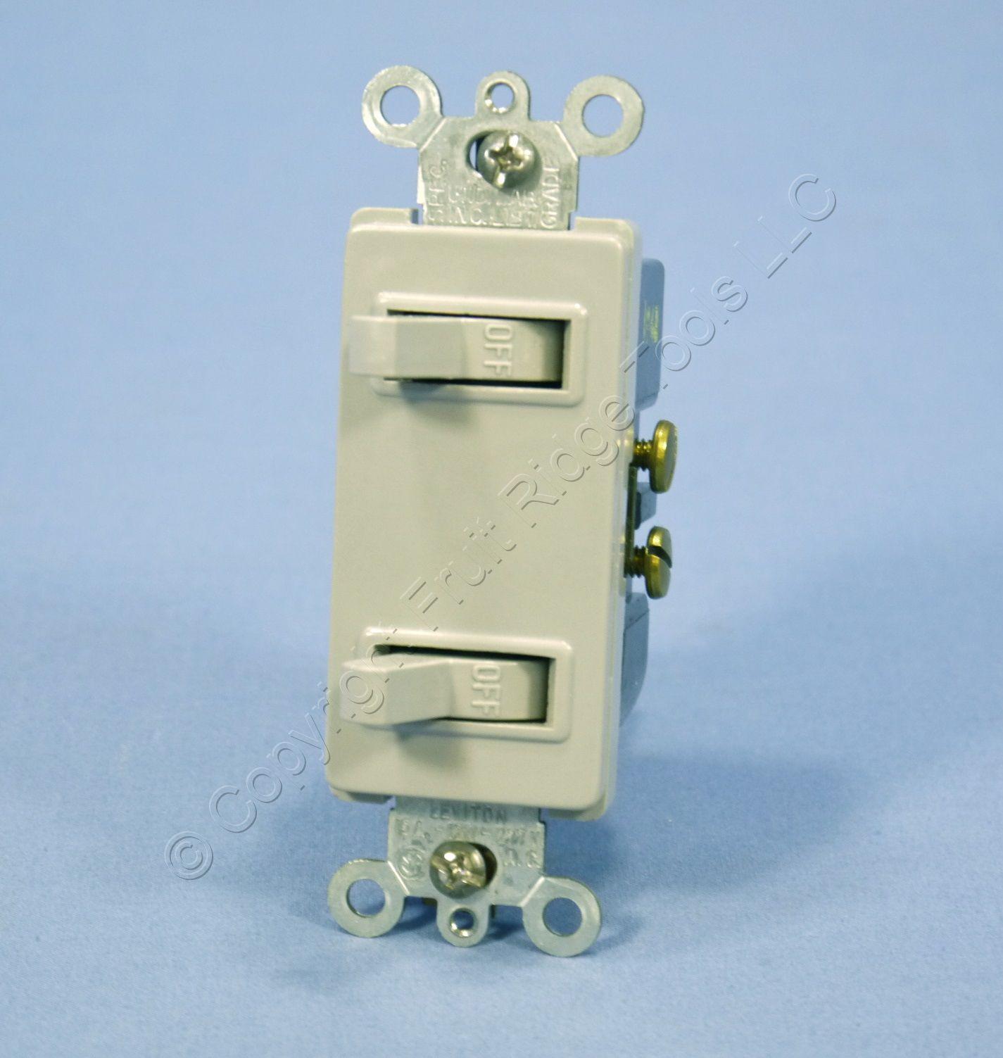 New leviton gray decora duplex toggle wall light switch for Decora light switches