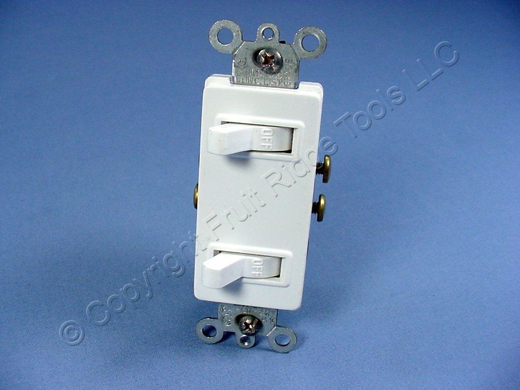 Leviton White Decora DUPLEX Toggle Light Switch Duplex 15A 5634-W