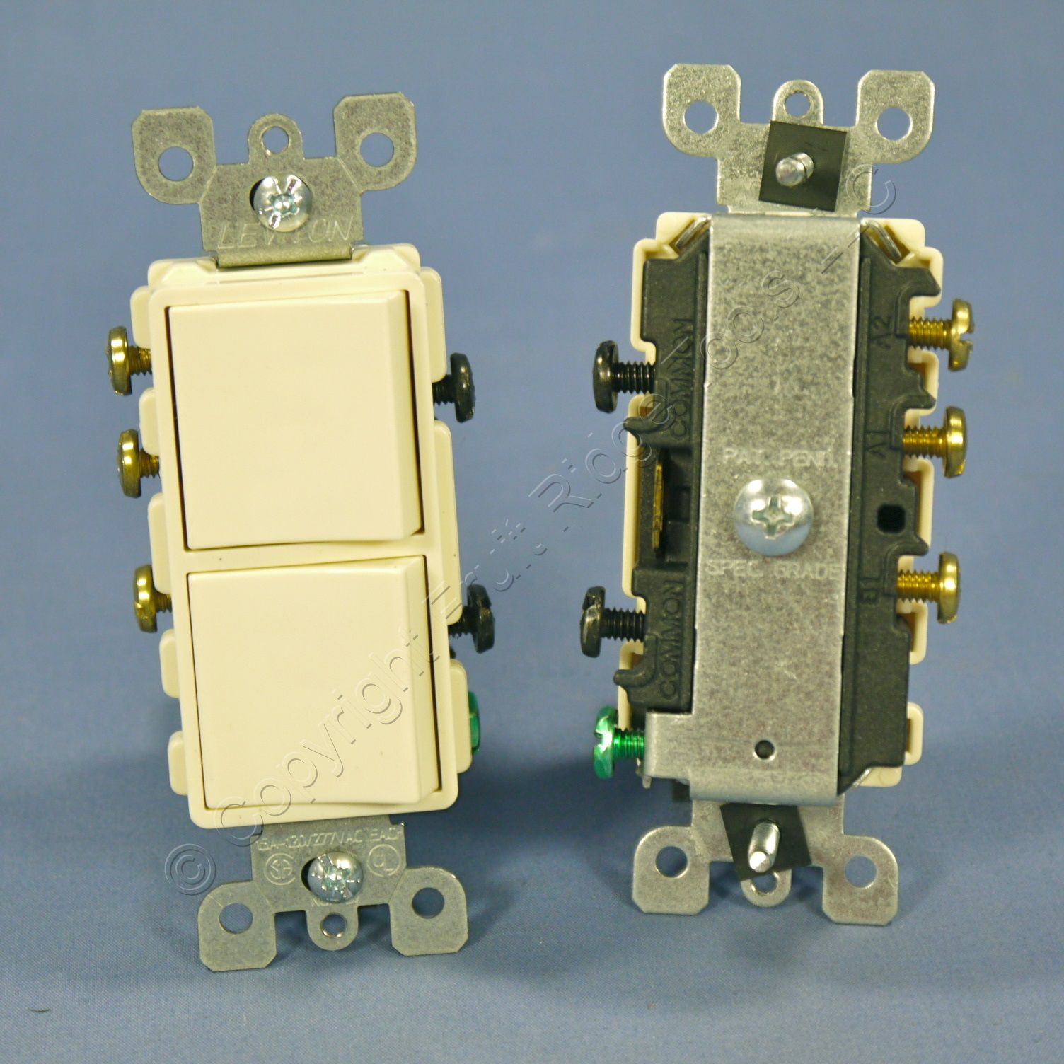 10 new leviton almond decora sp 3 way double light for Decora light switches